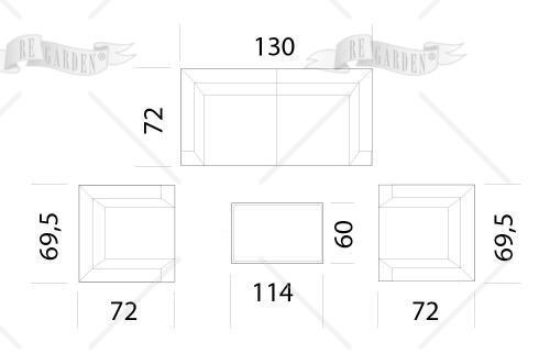 Salotto da esterno in alluminio - 2