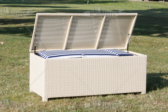 Cassapanche 140x59 white washed - 2