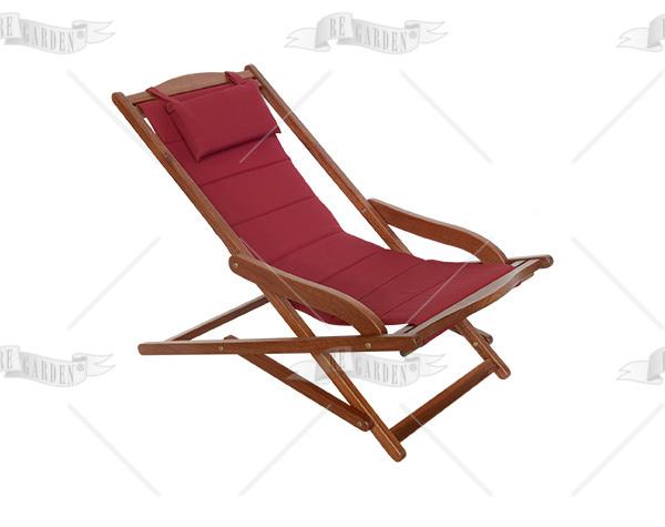 Sedia sdraio da giardino con schienale in tessuto - 1