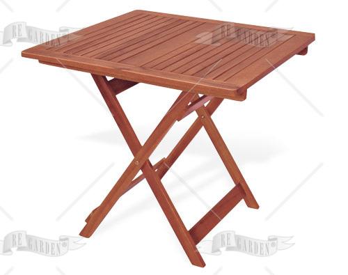Caprifoglio - Tavolo quadro pieghevole 80x80 - 1