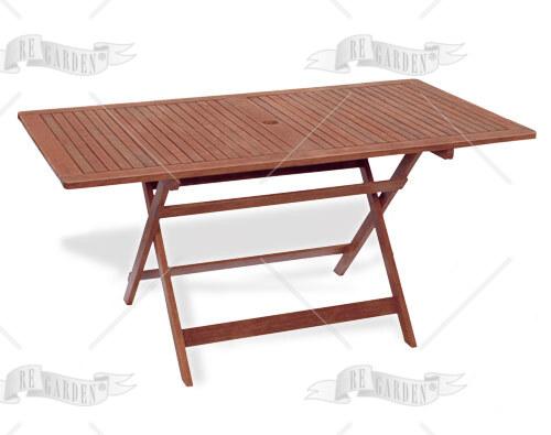 Caprifoglio - Tavolo rettangolare pieghevole 150x80 - 1
