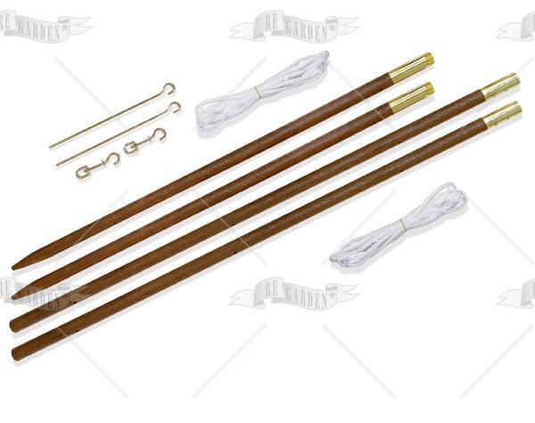 Set 2 pali in legno per vele - 1