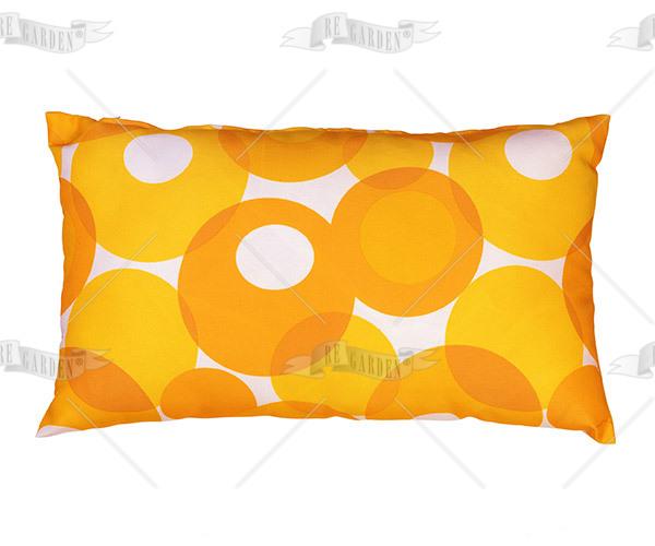 Pillow rettangolare Bolle Arancio - 1