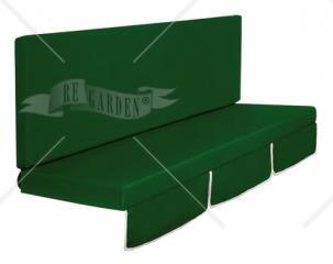 Larice - Dondolo 3 posti 2 teli (Ecrù e Verde) - 3