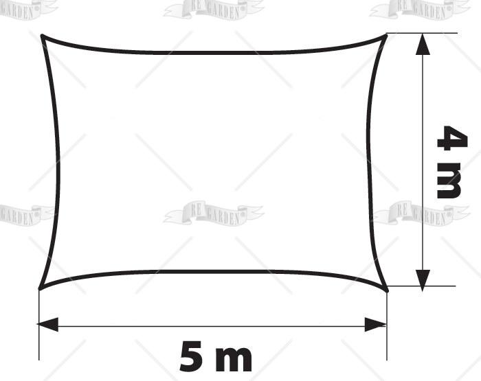Vela rettangolare 5x4 m - 2
