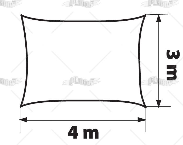 Vela rettangolare 4x3 m - 2
