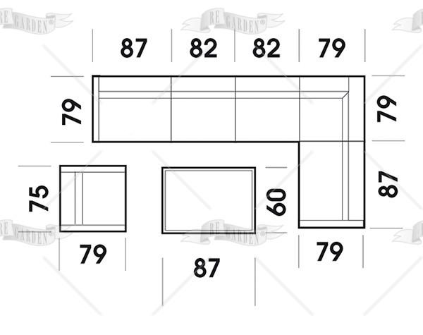Set Salotto Acantho - Modulare - 2