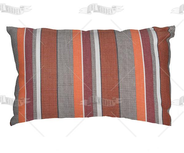 Pillow rettangolare Righe Arancio - 1