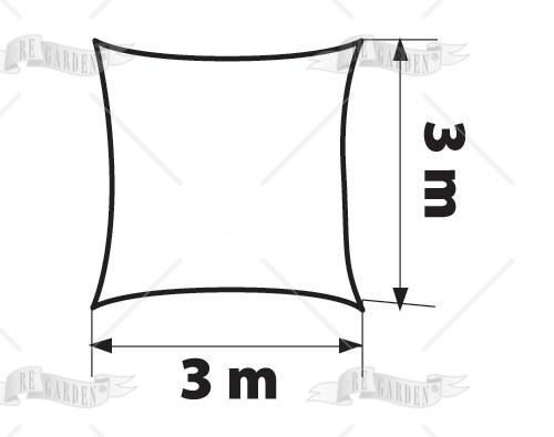 Vela quadrata 3x3 m - 2