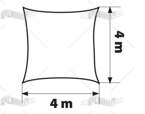 Vela quadrata 4x4 m - 2