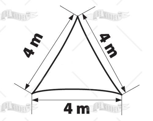 Vela triangolare 4x4x4 m - 2