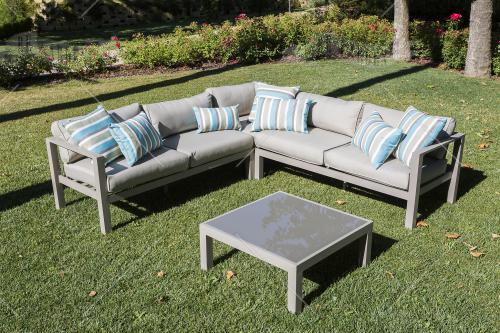 Salotto da giardino in alluminio componibile - 1