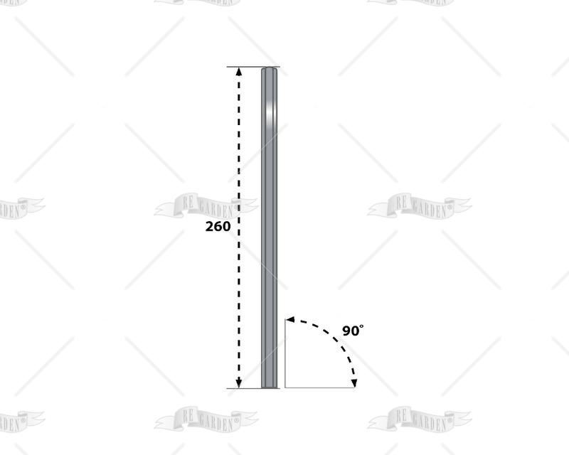 Palo in alluminio a 90° - 1